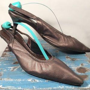 Donald J. Pliner ESO 2 Bronze Slingback Heel Sz 8